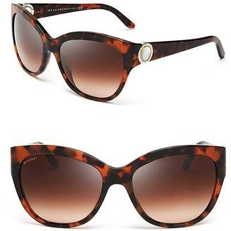 Bulgari BVLGARI Mother of Pearl Temple Cat Eye Sunglasses
