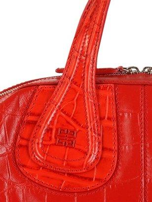 Givenchy Medium Nightingale Croc Embossed Bag
