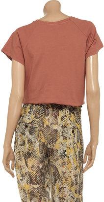 Vanessa Bruno Appliquéd cotton-jersey T-shirt