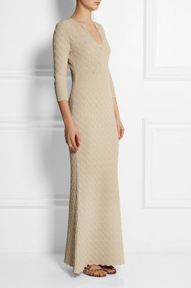 Alexander McQueen Textured-knit maxi dress