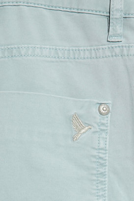 MiH Jeans Paris pale-blue cropped mid-rise straight-leg jeans