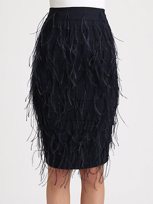 Sachin + Babi Lacey Ostrich Feather Skirt