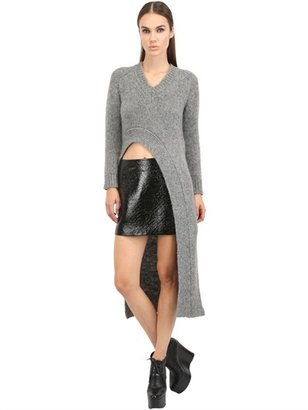 Viktor & Rolf Asymmetrical Alpaca Wool Blend Sweater