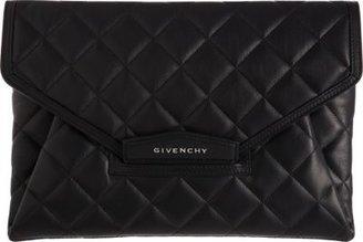 Givenchy Quilted Antigona Envelope Clutch