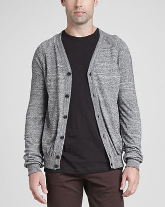 Theory Lucian DL Cotton-Blend Cardigan, Gray