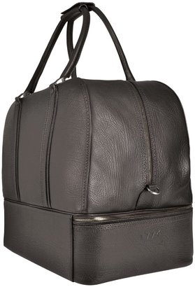 Pineider 1774 - Ebony Rugato Calfskin Sports Bag