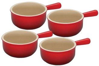 Le Creuset 4-pc. Stoneware French Onion Soup Bowl Set, Cherry Red