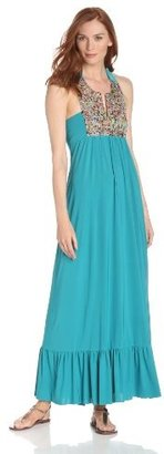 T-Bags Tbags Los Angeles Women's Beaded Detail Maxi Dress