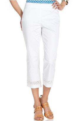 Charter Club Pants, Slim-Leg Eyelet-Lace Capri