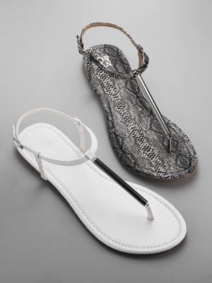 New York & Co. T-Strap Flat Sandal