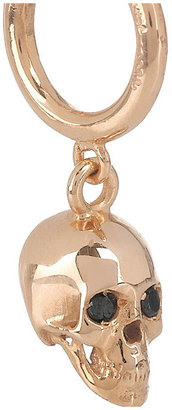 Ileana Makri Skull 18-karat rose gold and diamond earrings