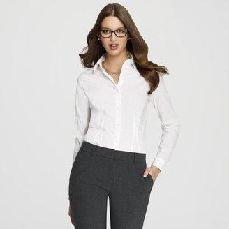 Anne Klein Platinum Button Front Blouse