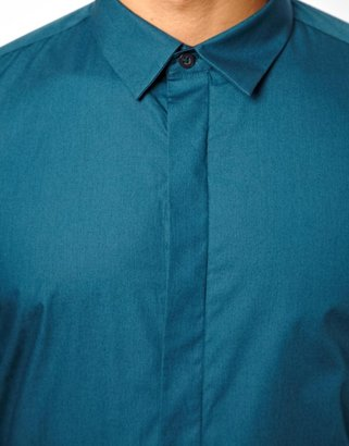 Peter Werth Poplin Fly Front Shirt
