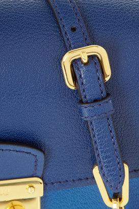 Miu Miu Bandoliera Madras two-tone leather shoulder bag
