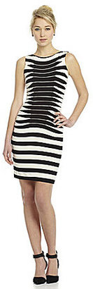Betsey Johnson Striped Ruched Dress