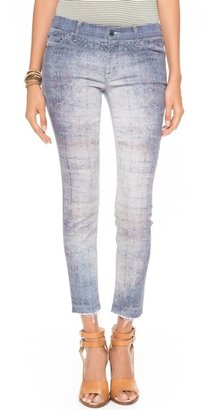 Mother The Looker Skinny Ankle Fray Jeans