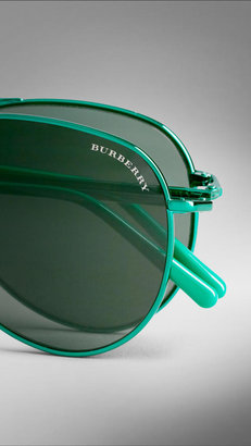 Burberry Spark Foldable Aviator Sunglasses