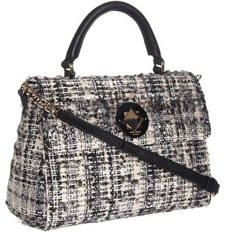 Kate Spade Studio City Little Nadine (Black/Cream/Dark Silver) - Bags and Luggage
