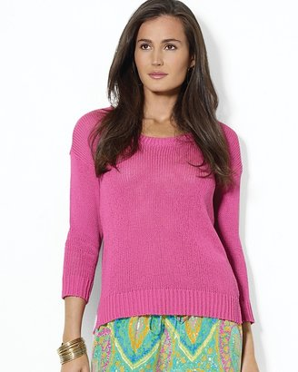 Lauren Ralph Lauren Open-Knit Scoopneck Sweater