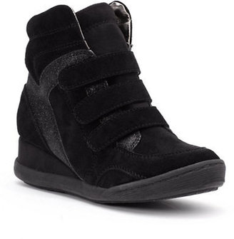 Kenneth Cole Reaction Fit the Hill Suede Sneaker Wedges