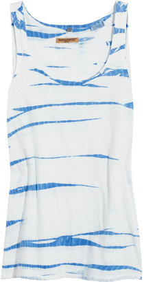 Levi's Tie-dyed cotton and linen-blend jersey tank