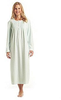 Miss Elaine Microfleece Long Gown - Aqua