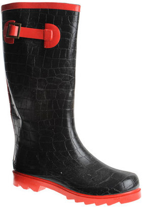 Henry Ferrera Neon Croc Rainboot Red