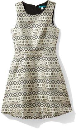 Pim + Larkin Lena Brocade Fit N Flare Dress