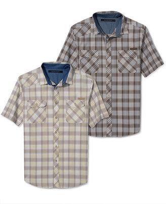 Sean John Shirt Big and Tall, Tonal Check Shirt