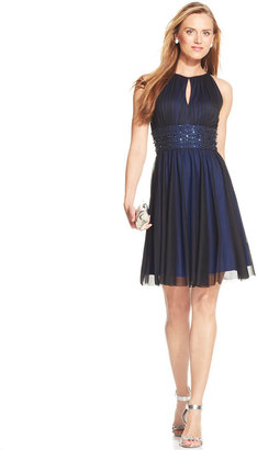 Jessica Howard Sleeveless Keyhole Embellished Dress $99 thestylecure.com