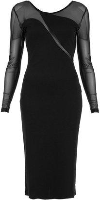 Topshop Wave Mesh Midi Bodycon Dress