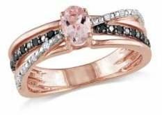 Concerto 0.5TCW Morganite and Diamond Ring