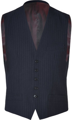 Marc by Marc Jacobs Navy-Multi Pinstriped Ivan Suit Vest