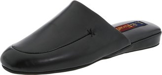 L.B. Evans Men's Duke Scuff Black Leather Clog/Mule 8 M