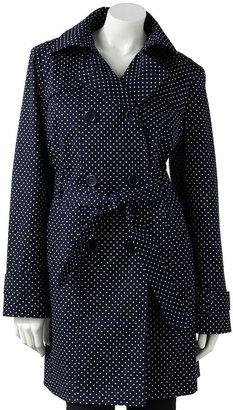 London Fog Towne by polka-dot trench coat