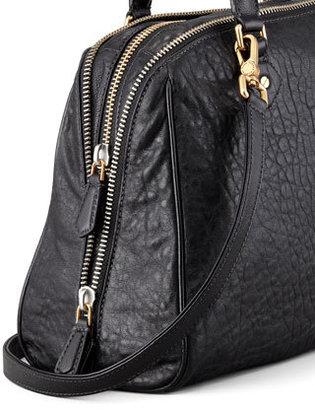 Marc by Marc Jacobs Washed Up Lauren Leather Satchel Bag, Black