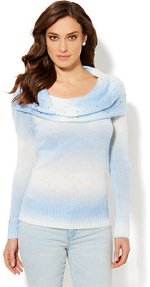 New York & Co. Ombre Cowl-Neck Sweater