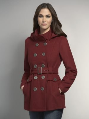 New York & Co. Double-Breasted Wool Military Coat