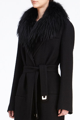 Diane von Furstenberg Victoria Coat In Black