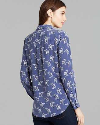 Equipment Blouse - Slim Signature Leaping Fawn Print