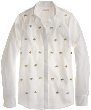 J.Crew Collection encrusted boy blouse
