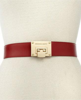 MICHAEL Michael Kors Belt, Flip Lock Feather Edge Belt