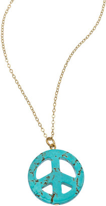 Privileged Turquoise Peace Sign Necklace