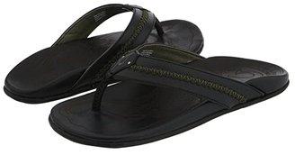 OluKai Mea Ola (Black/Black) Men's Sandals