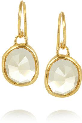 Monica Vinader Siren gold-plated citrine earrings