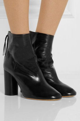 Isabel Marant Alona glossed-leather ankle boots
