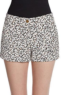 Tibi Cheetah-Print Shorts