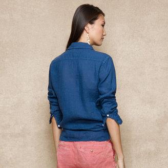 Ralph Lauren Blue Label Linen Long-Sleeved Tunic