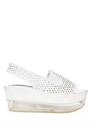 Stella McCartney 70mm Eco Leather And Plexiglass Wedges