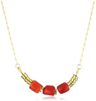 Jenny Bird Coral Earth Nugget Necklace